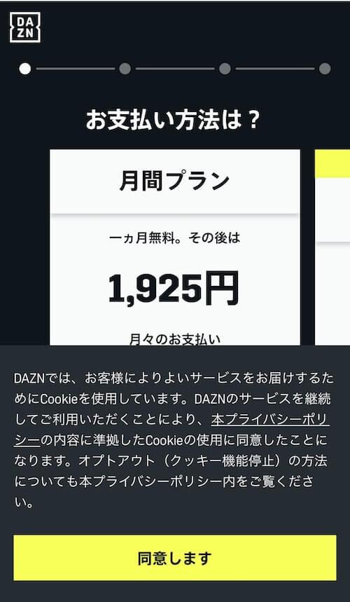 ダゾーン申し込み2