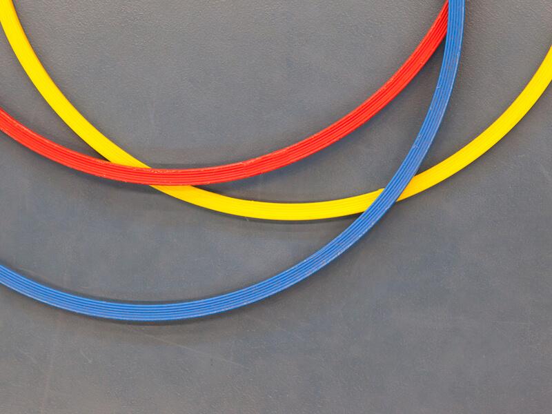 3色のフラフープ