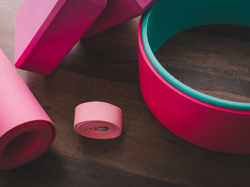 ピンクのヨガホイール