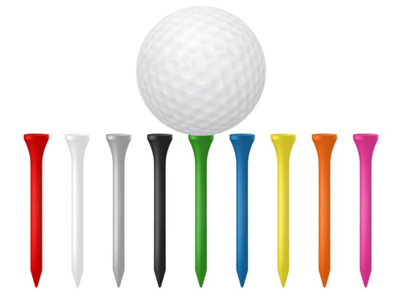 9色のゴルフティー